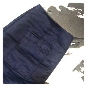 Old Navy Blue Suede Skirt